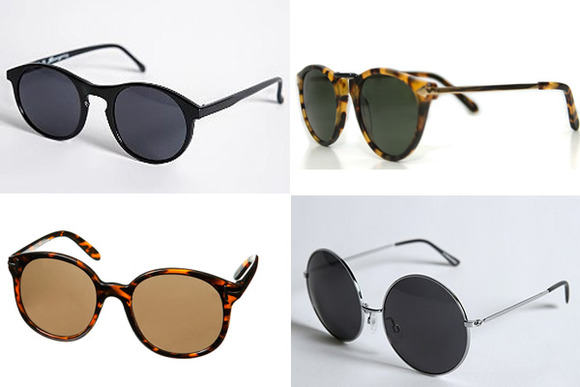 vintage round sunglasses. Vintage Round Sunglasses for