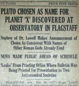 pluto name paper